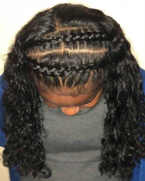 Headband Braids for African American Black Women