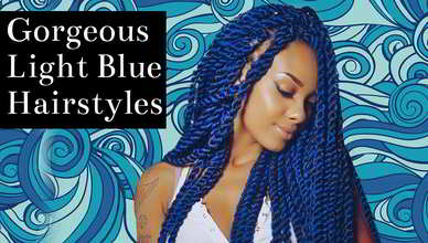 56 Gorgeous Light Blue Hairstyles for Black Women