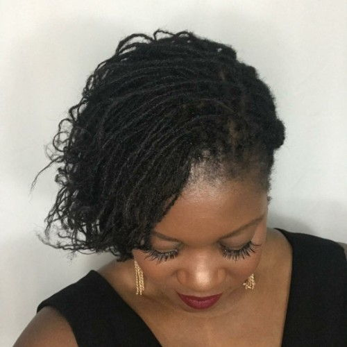Microlocks Hairstyles for Black WOmen