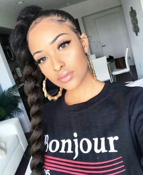 One Braided High Ponytail