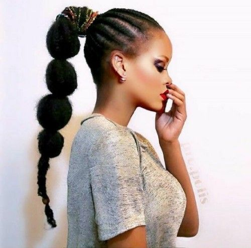 Puffy High Ponytail