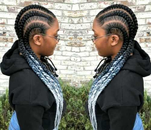 Jumbo Cornrows hairstyles for the Black Women