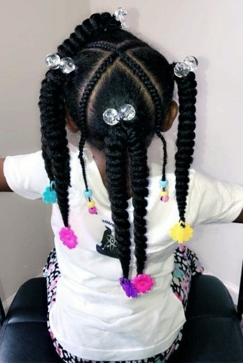 Twisted Braids with Beads