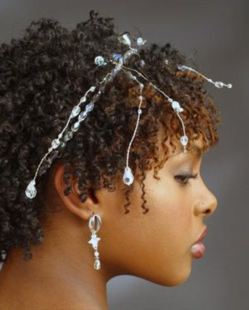 finger Coils hairstyles for Black Wedding