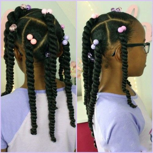 havana Twists hairstyles for Balack baby Girls