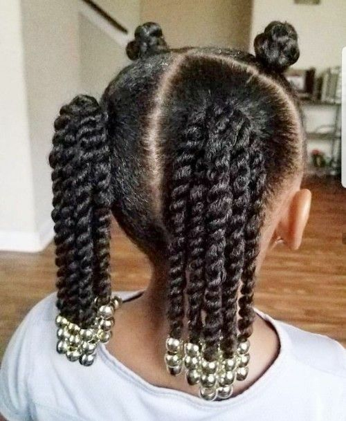 ytails Hairstyles for Black baby Girls