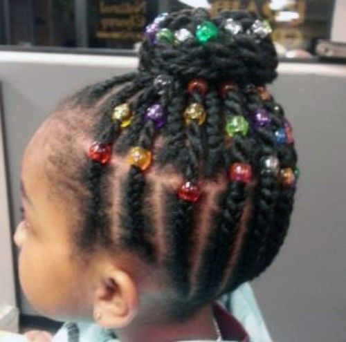 Beads hairstyles for Baby girls