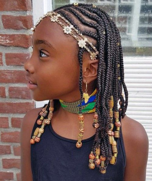 Cornrows Braids with Beads