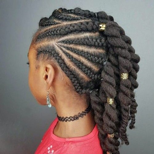 Cornrows Braids with Beads (