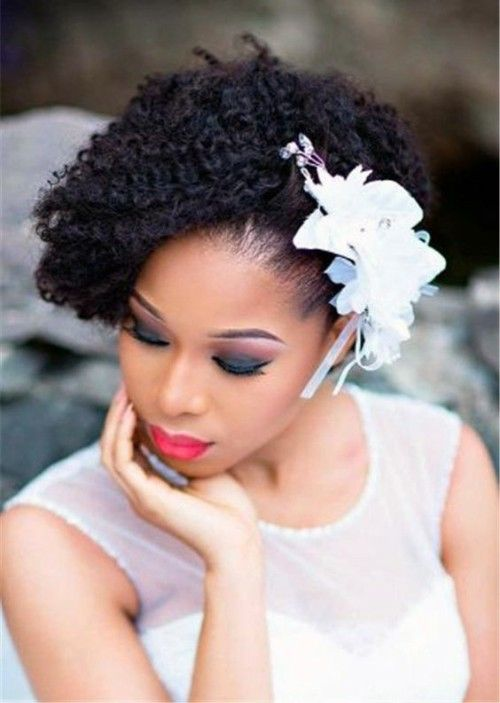 Updo hairstyles for Black Wedding