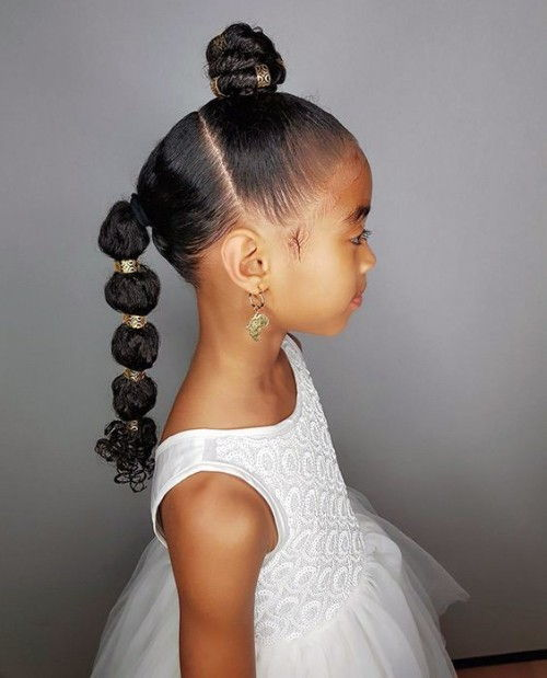 Puffy Braids Hairstytles for baby Girls