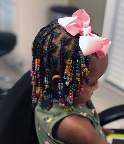 Little Girls Braids with Beads