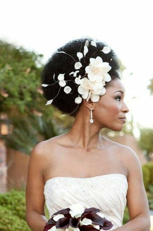 Afro hairstyles for Black Wedding