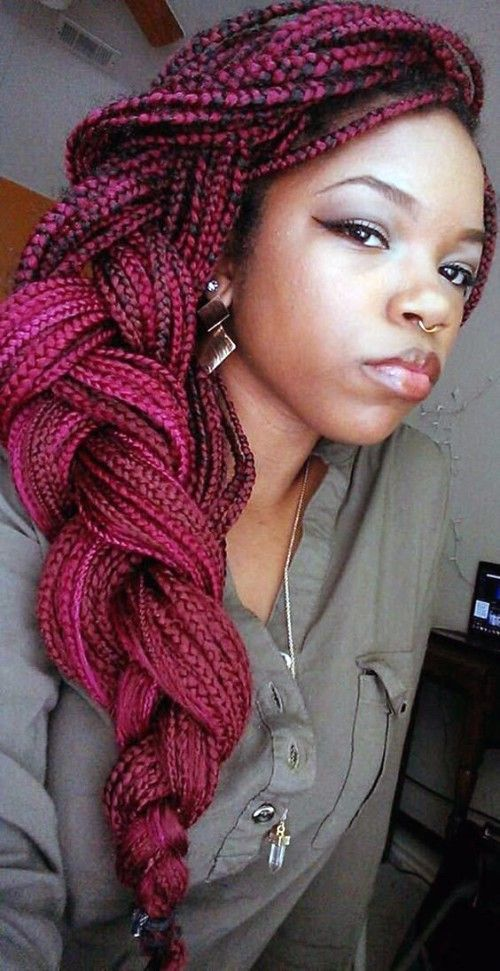 Red Poetic Justice Braid