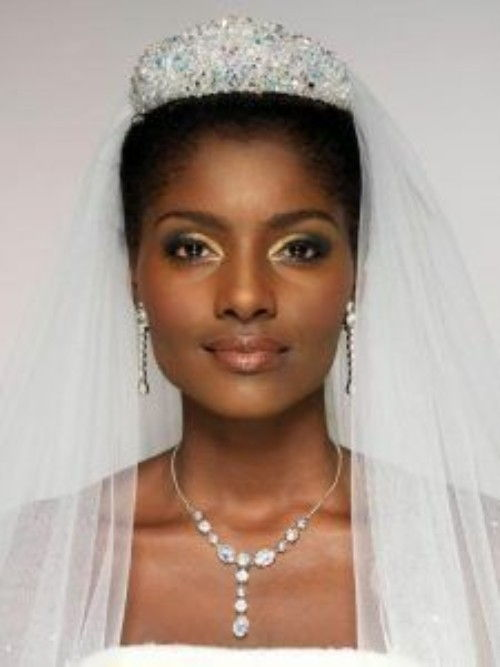 Crown hairstyles for Black Wedding