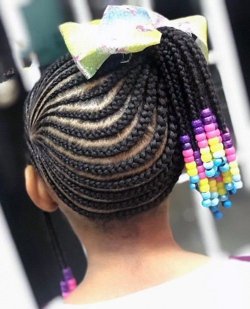 More Bradis with Beads hairstyles Ideas for the Black Little Girls