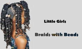 Cute Braids with Beads Hairstyles for Little Girls