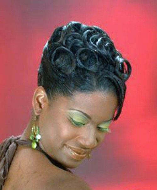 Pin Curl Updo for Birthday Girl