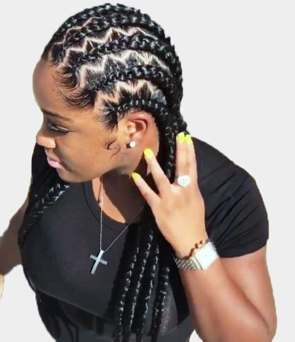 Zigzag Cornrows Braids