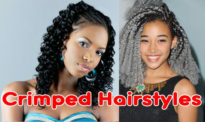Crimped Hairstyles for Black Women