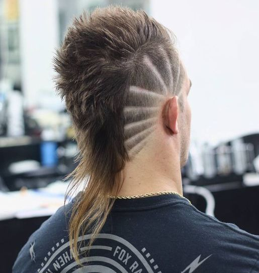 Fashionable mullet hairstyle